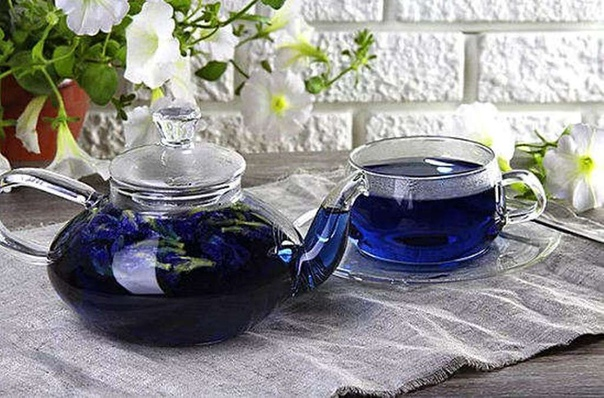 Сколько теина содержит синий чай?